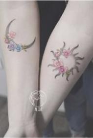 27款非常适合闺蜜和情侣的纹身作品图案