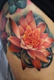 写实纹身花朵 一组玫瑰花等逼真写实的大花卉纹身图案