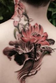 莲花纹身 好看的一组莲花主题刺青图片