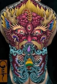 大满背纹身 霸气的全胛大满背9款纹身作品图