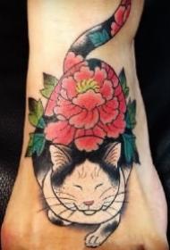 日式刺青大猫的9款猫纹身作品图片