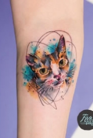 漂亮水彩纹身 小清新的9款小水彩纹身作品图片