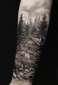 手臂风景纹身 写实风格的9款男性大臂风景纹身图案