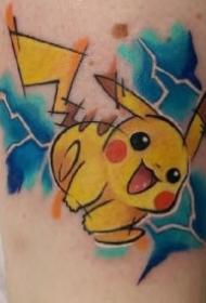 精灵宝可梦的一组比卡丘等纹身作品图片