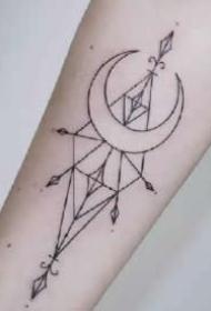 几何点线纹身 一波点线几何主题的纹身作品图案