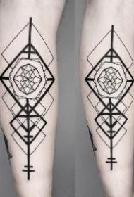 让人眼花缭乱的一组小臂几何纹身图案