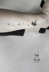 昆明纹身 小字母作品 云南昆明针图刺青店的几款纹身作品