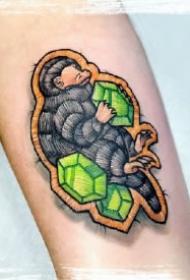 刺绣纹身 18款彩色的创意刺绣主题的纹身图片