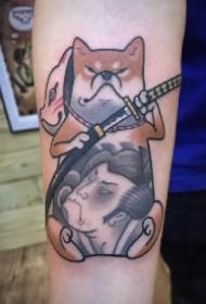 9款小狗柴犬的纹身作品图片