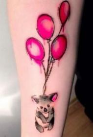 考拉纹身 可爱的一组小动物考拉纹身图案