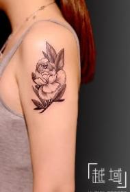 一组女生素花纹身图片 上海纹身越域刺青作品