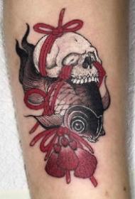 日式金鱼纹身 传统日式的15款小金鱼纹身作品图案