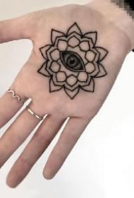 手心纹身 手掌心里的9款黑灰创意纹身作品图案