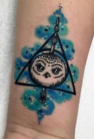 9款个性的重彩色的小纹身作品图片