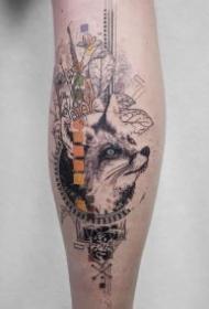 精致创意的9款黑灰点刺动物纹身作品图案