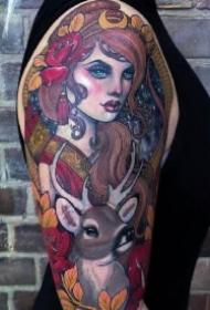 印象派的9款绚丽油画纹身图片