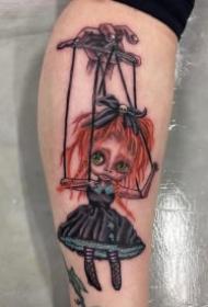 提线玩偶主题的9款木偶纹身作品图