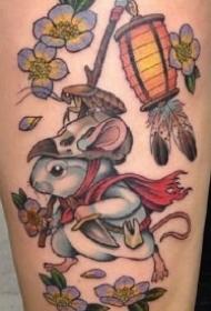 适合属鼠人的几款老鼠小纹身作品