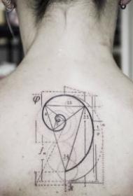 几何旋风图形的9款小清新纹身作品图