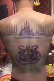 老虎和泰国刺符搭配的9款纹身图案作品