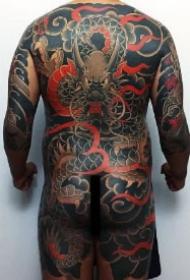 老传统日式全胛大满背的6款纹身作品