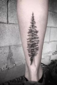 好看的一组小树纹身作品