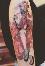 传统的18款艺伎纹身作品图片