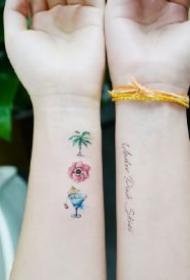 超适合小女生的手腕纹身小图作品