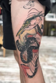 日式传统的9张纹身红黑色作品赏析