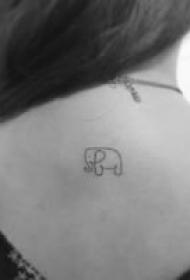 九款萌劲十足的迷你纹身图案