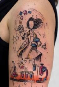 文艺又富有想象力的女生纹身