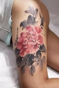 一组好看的花卉纹身图案