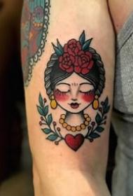 一组欧美女生头像纹身图案欣赏