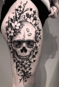 一组黑色写实霸气纹身图案欣赏
