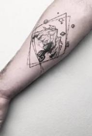 一组黑灰创意纹身图案欣赏
