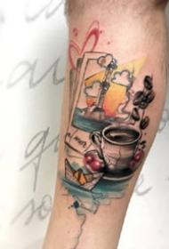 一组水彩创意纹身图案欣赏