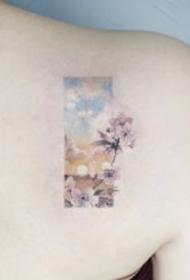 一组非主流彩色纹身图案