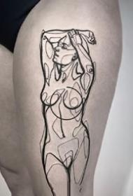 一组线条人体刺青图片欣赏