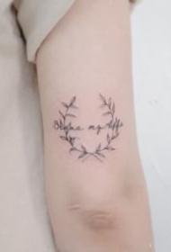 一组小清新简易纹身图案