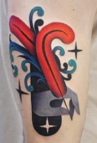一组创意色彩纹身图案欣赏