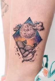 一组清新•创意•彩色纹身图案
