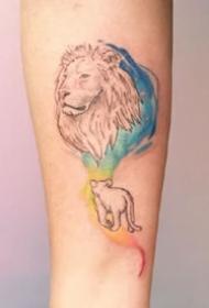 一组可爱的彩色手臂上的纹身