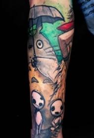 一组可爱五颜六色的纹身