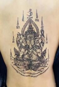 一组泰国刺符文化纹身图案