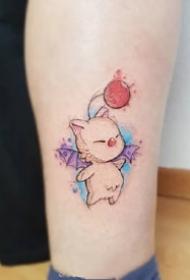 一组彩色可爱唯美的纹身图案