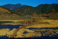 云南泸沽湖走婚桥风景图片(6张)