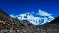 西藏珠穆朗玛峰落日风景图片(6张)
