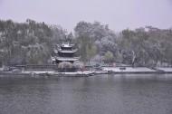 雪中陶然亭公园图片(11张)
