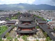 丽江古城俯瞰图片(9张)