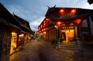 云南丽江古城夜景图片(34张)